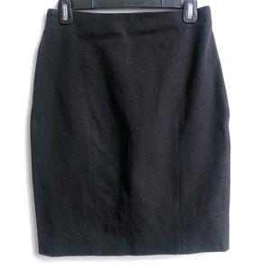 Banana Republic black pencil skirt above the knee